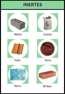 Principaux déchets inertes bâtiment
