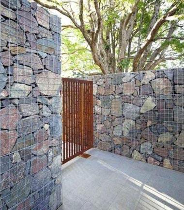 Murs et murets de gabions